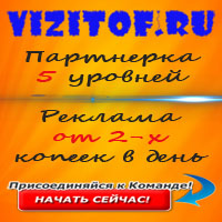 vizitof.ru - Партнерская программа обмена визитами